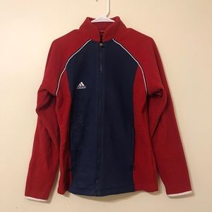 Jackets & Blazers - vintage adidas colorblock fleece zip up jacket
